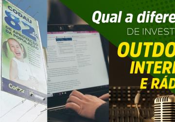 Noticia Entenda a diferença de investir em outdoor, internet e rádio da netbasic uberaba mg