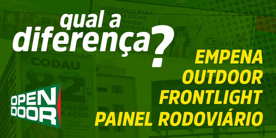 Noticia Diferenças entre Outdoor, Painel Rodoviário, Front Light e Empena. da netbasic uberaba mg